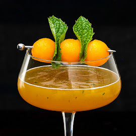 Cantaloupe Martini by Judy Heinrich - Food & Drink Alcohol & Drinks ( cantaloupe, martini, cocktail, mint, vodka )