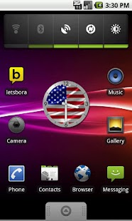 USA Flag Analog Clock Lite - screenshot