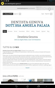Dentista Palaia Genova - screenshot