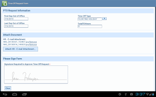 Screenshot of OnBase Mobile