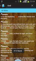 Screenshot of Holy Bible King James Version