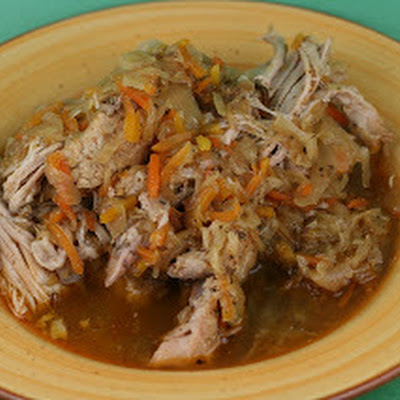 Slow Cooker Pulled Pork with Sauerkraut