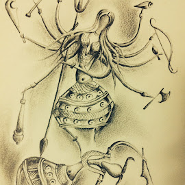 Devi Durga by Somnath Kundu - Drawing All Drawing ( sketch, puja, durga )
