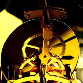Clock Works by Peggy LaFlesh - Artistic Objects Technology Objects ( macro, clock, gears, object )