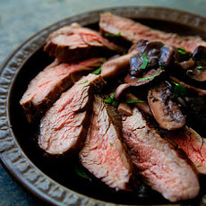 Grilled Flank Steak with Mushrooms