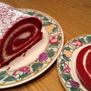 Red Velvet Jelly Roll Cake