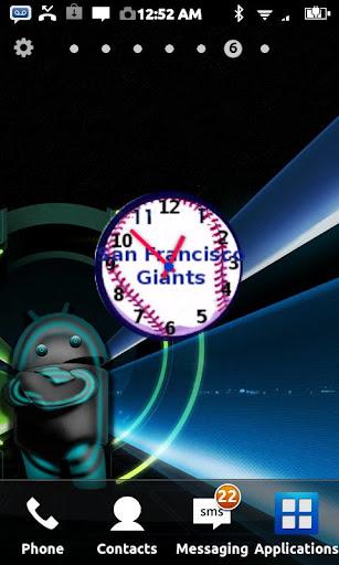 San Francisco Giants Clock Wid