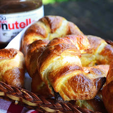 Nutella filled Croissants