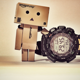 Danboard Casio by Hasnain Rizvi - Artistic Objects Toys ( canon, casio, danbo, danboard, watch, 60d, 50mm, protrek,  )