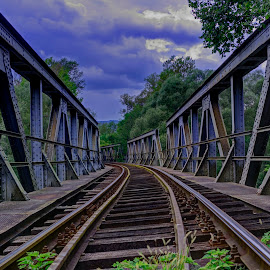 Railway tracks by Stratos Lales - Buildings & Architecture Bridges & Suspended Structures ( railway, train, bridge, tracks, river )