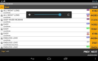 Screenshot of Videoke Songbook