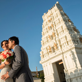 Marriage is the highest state of friendship by Yansen Setiawan - Wedding Bride & Groom ( temple, kiss, wedding, indian )