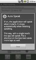 Screenshot of Alarm Speaking