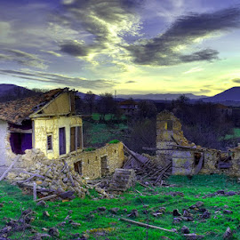 Drama abandoned land ... by Emil Athanasiou - Buildings & Architecture Decaying & Abandoned ( hellas, d90, greece, pixari, drama, nikon d90, Lighting, moods, mood lighting )