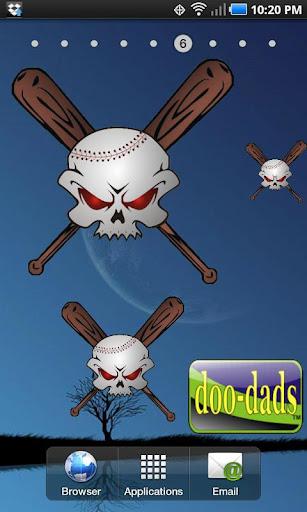 Baseball Skull doo-dad