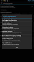 Screenshot of Keyboard Manager (root users)