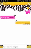 Screenshot of GO SMS - Butterfly Zebra Sky