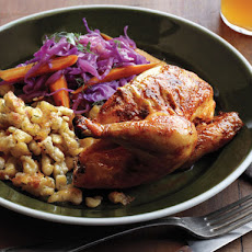 Roasted Cornish Game Hens With Pumpkin Seed Pesto