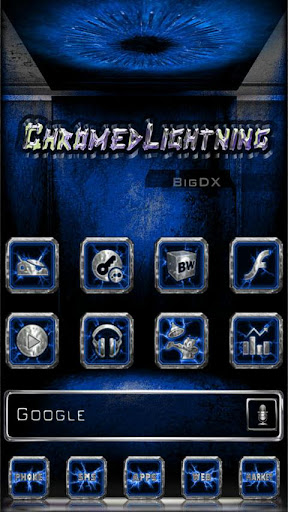 Chromed Lightning Multi Blue