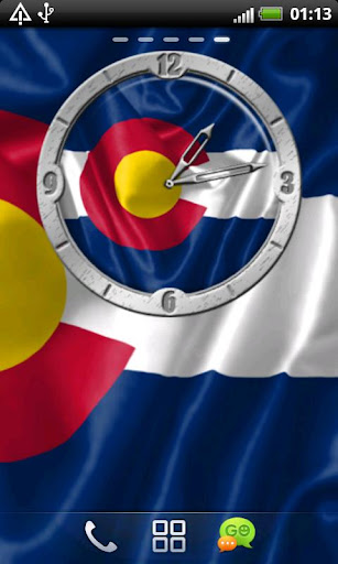 USA Colorado clock flag