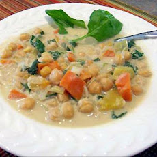 Orange Squash and Garbanzo Stew/Soup