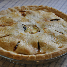 Smoky Tea Prune and Grappa Custard Pie