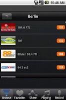 Screenshot of Radio Germany