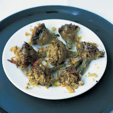 Tray-baked Artichokes With Almonds, Breadcrumbs & Herbs