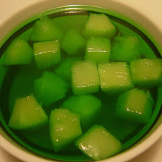 Lime Pineapple Jello Mold