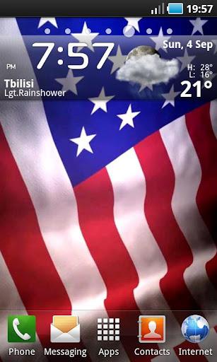 Animated American Flag LWP