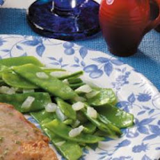 Pea Pods with Onion
