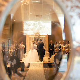 Through the looking Glass by Melissa Sweet-Leavins - Wedding Ceremony ( window, wedding, texas, bride,  )