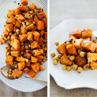 SPICED SWEET POTATOES AND CHICKPEAS