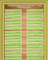 Screenshot of Chennai Banks IFSC Codes List