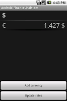 Screenshot of Android Finance Assistant