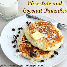 Chocolate and Coconut Pancakes