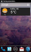Screenshot of Canadian Weather