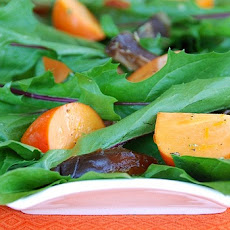 Dandelion, Persimmon, and Medjool Date Salad