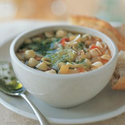 Minestrone with Pasta and Pesto