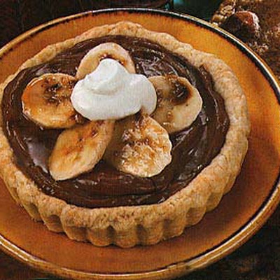Banana Tartlets with Chocolate Custard