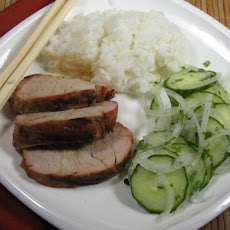 Sesame Pork With Thai Cucumber Salad