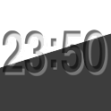 Emboss Clock Widget icon