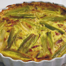 Leek, Bacon, and Gruyere Crustless Quiche