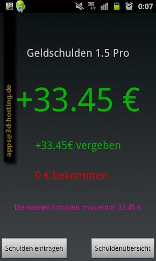 【免費生產應用App】Geldschulden Pro-APP點子