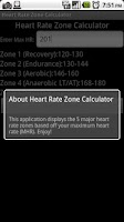 Screenshot of Heart Rate Zone Calculator