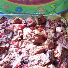 Chocolate-Cherry Bread Pudding