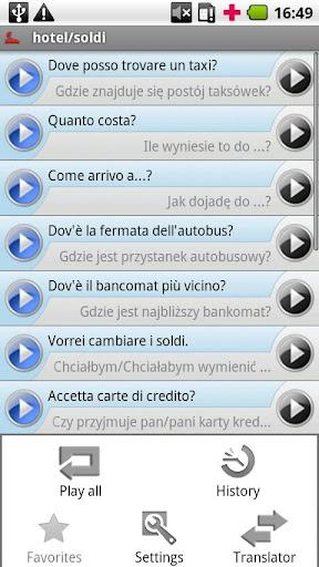 iSayHello 意大利语 - 波兰语