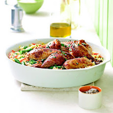 Herbed Chicken and Orzo