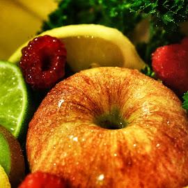 Mouthwatering by Steven Maerz - Food & Drink Fruits & Vegetables ( #food#fruit#produce#kiwi#apples#lemon#citrus#macro )