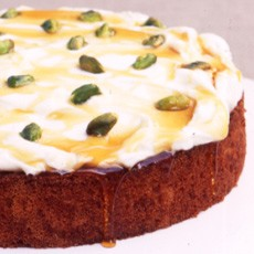 Greek Orange and Honey Syrup Cake with Yoghurt and Pistachios